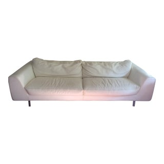 Roche Bobois White Leather Sofa
