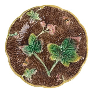 English Majolica Faux Bois Plate