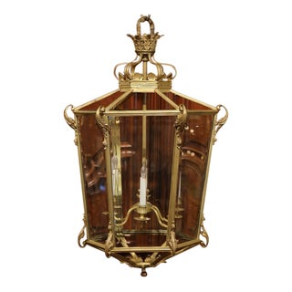 Early 20th Century French Louis XV Six-Light Gilt Bronze Lantern