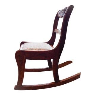 Vintage Walnut Child's Rocking Chair