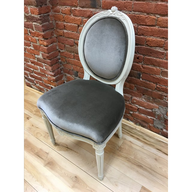 Swedish Gustavian Style Side Chair - Image 4 of 9