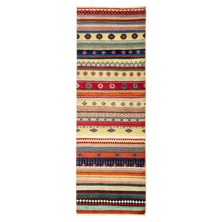 """Lori, Hand Knotted Striped Tribal Runner Rug - 2' 0"""" X 6' 1"""""""
