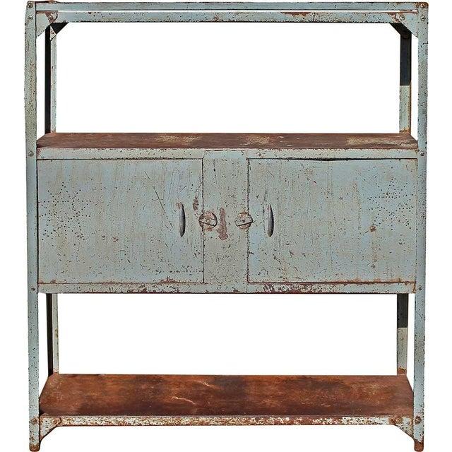 Vintage Double Door Iron Rack - Image 2 of 5
