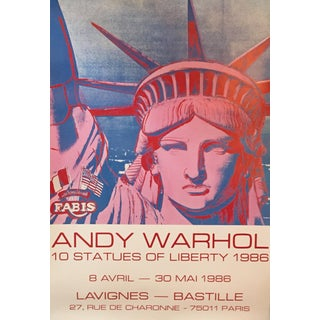 Andy Warhol Exhibition Poster Statue of Liberty