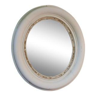 Whitewashed Accent Mirror