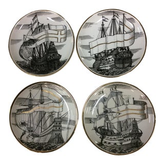 Fornasetti Italian Ship Coasters - Set of 4