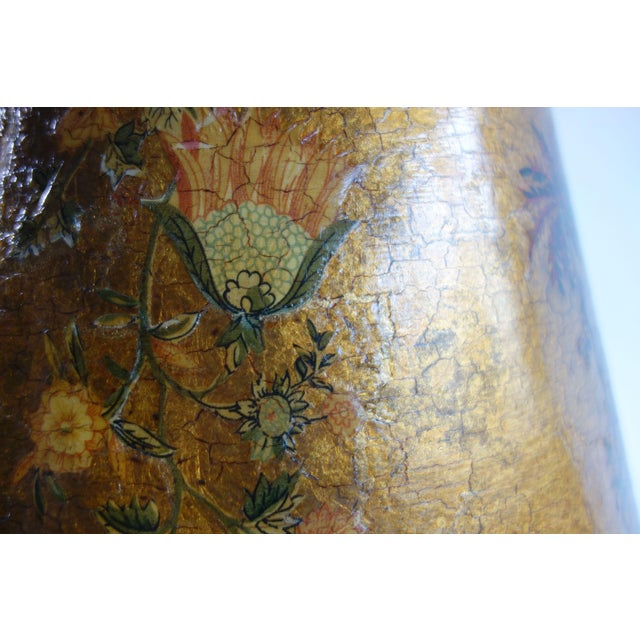 Golden Hand Painted Lamp - Image 7 of 8