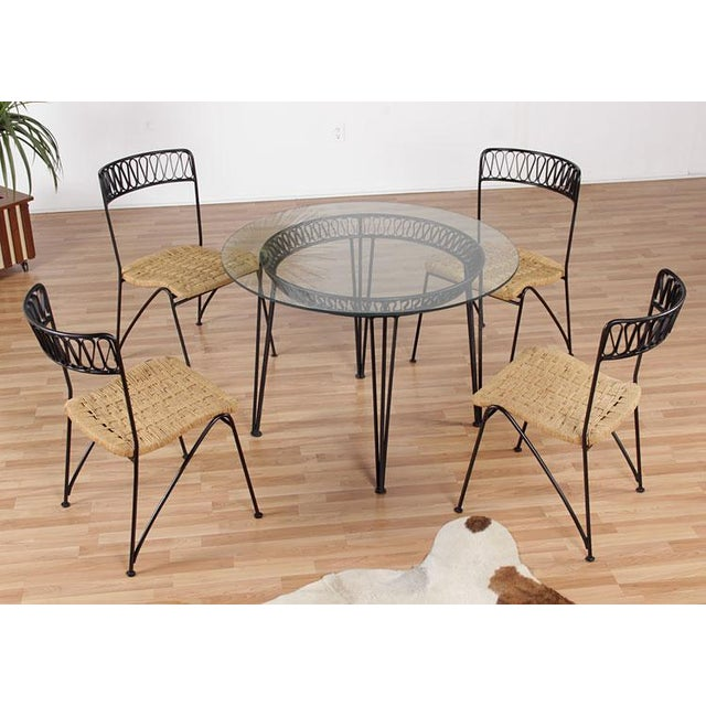 Restored Mid-Century Salterini Ribbon Patio Set - Image 2 of 9