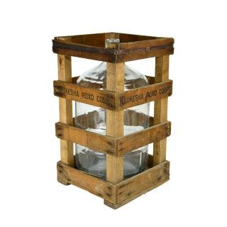 Vintage Water Jug and Crate