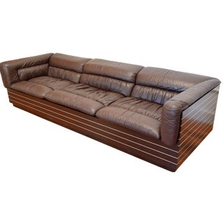 Giovanni Offredi Saporiti Leather Sofa