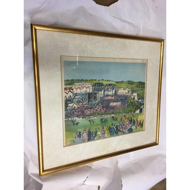 Raoul Dufy Vintage 1930 S Epsom Horse Races Silkscreen