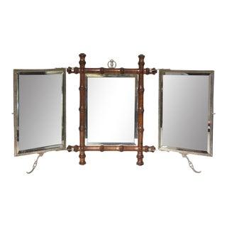 Victorian Tri-Fold Mirror