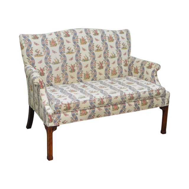 Custom Quality Chippendale Style Loveseat - Image 1 of 10
