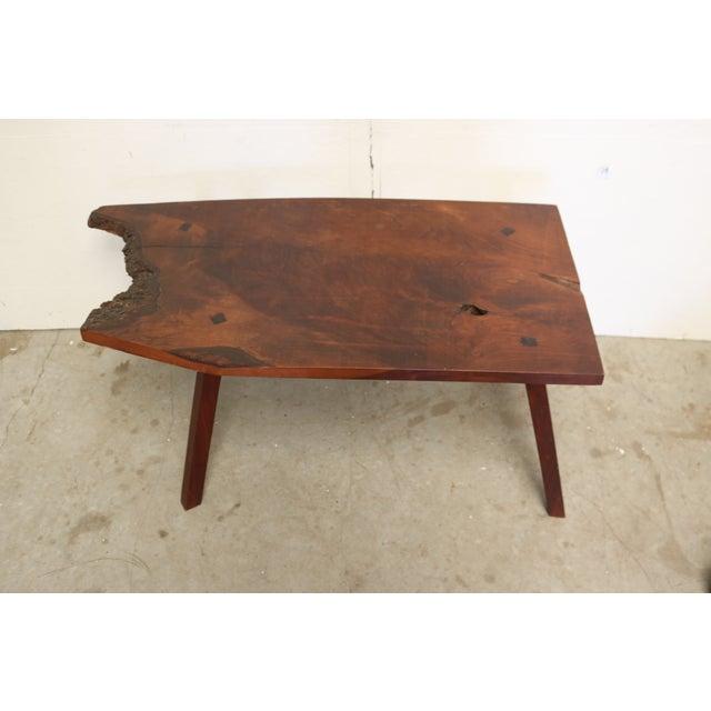 Image of Inscribed Handmade Live Edge Coffee Table