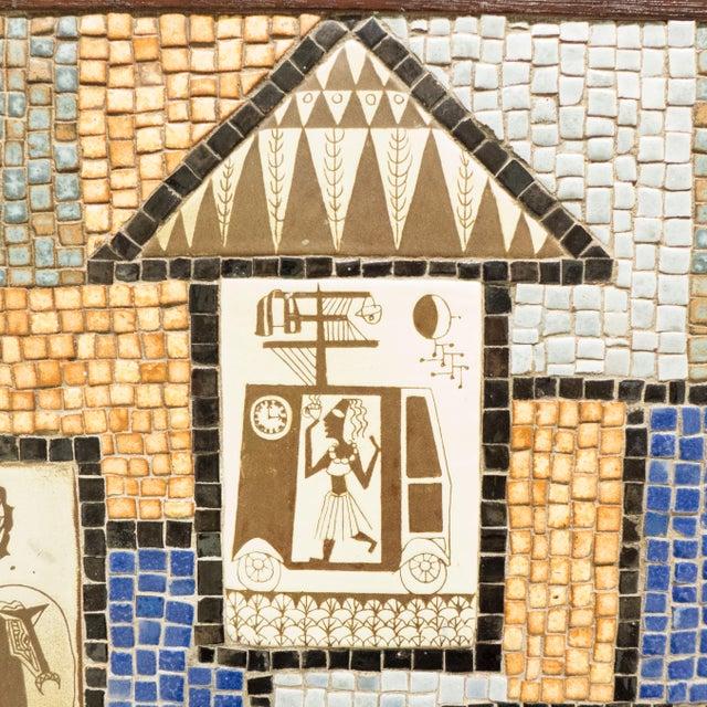David Holleman Ceramic Mosaic Table - Image 8 of 10