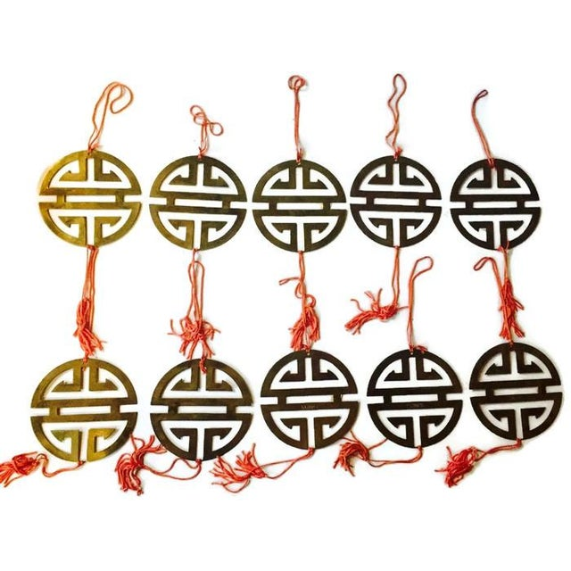 Vintage Brass Chinoiserie Ornaments - Set of 11 - Image 2 of 8