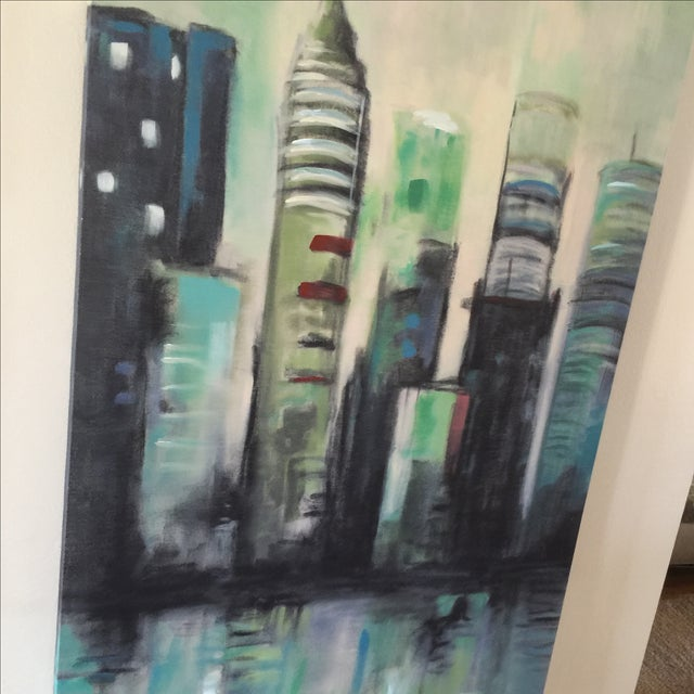 Twilight Cityscape on Canvas - Image 10 of 11