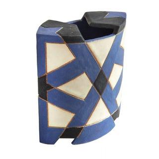Mid Century Geometric Vase