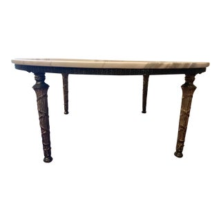 Italian Empire Style Marble Coffee Table