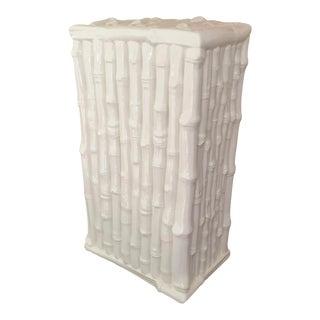 White Faux Bamboo Lamp Base