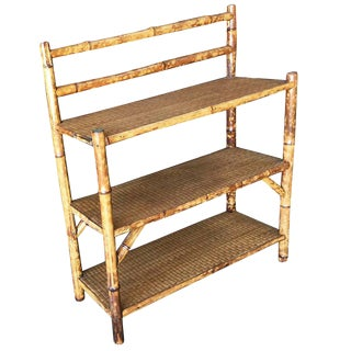 Tiger Bamboo Three-Tier Book Shelf