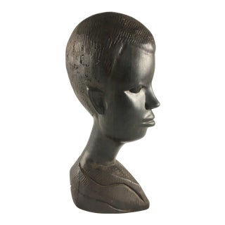 Ebony Sculpture of Woman