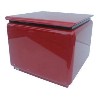 Rougier Red Lacquered Side Table