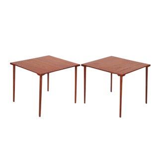 Mid Century Teak End Tables byt Hvidt & Molgaard, Pair