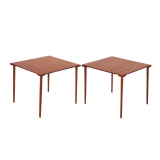 Mid Century Teak End Tables byt Hvidt & Molgaard, Pair