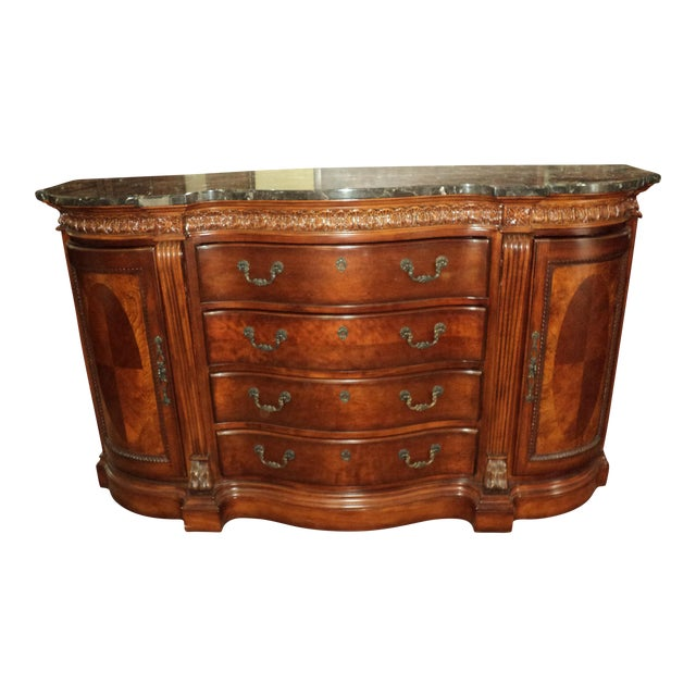 Chippendale-Style Marble Top Buffet - Image 1 of 5
