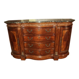 Chippendale-Style Marble Top Buffet