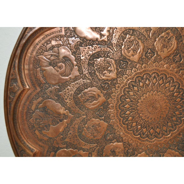 Persian / Indian Copper Table Top - Image 6 of 8