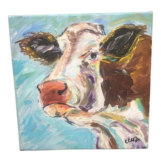 Cow Acrylic on Canvas Painting
