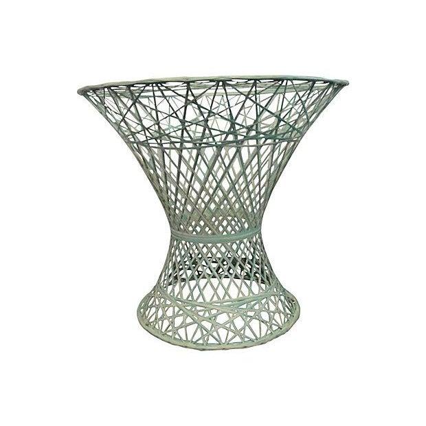 Green and White Spun Fiberglass Table Base - Image 1 of 4