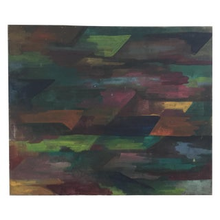 Abstract Green & Brown Painting