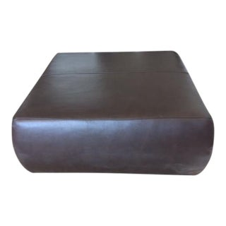Room & Board Brown Leather Ottoman