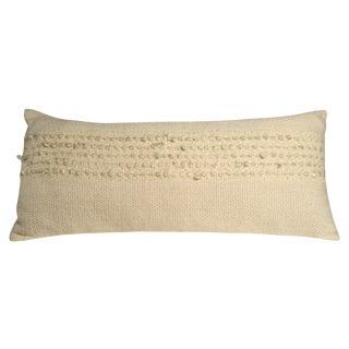 Hand-Woven Pillow, White Dove