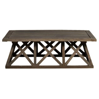 Sarreid LTD Trestle Elm Wood Coffee Table