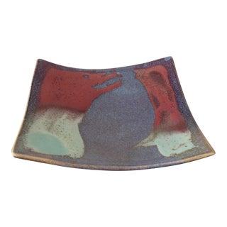Signed Glazed Ceramic Dish