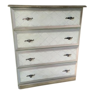 Vintage Hand Painted Wooden Chest