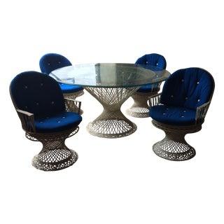Mid-Century Spun Fiberglass Patio Dining Set