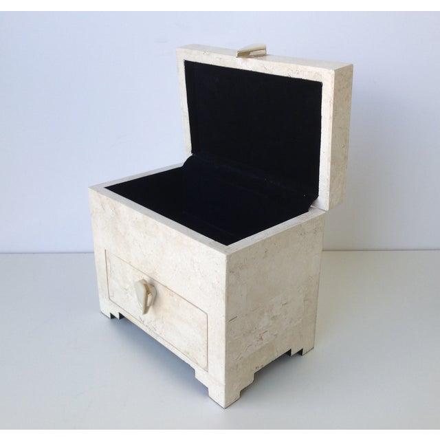 Maitland-Smith Vintage 1970s Tessellated Stone Box - Image 11 of 11