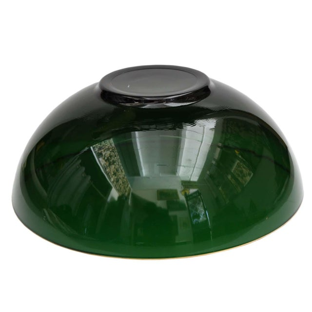Image of Round Emerald Green Bowl