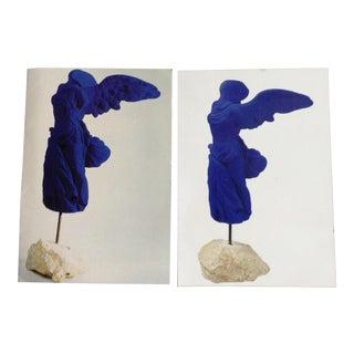 Yves Klein Cobalt Blue Winged Victory Prints - A Pair