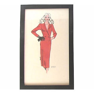 Fashion Sketch for Neiman Marcus, C. 1989