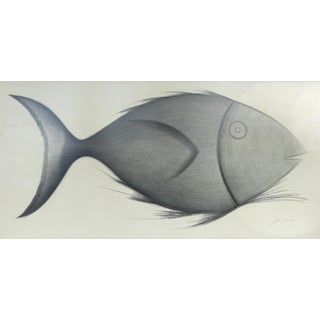 "Yuri Zatarain ""Fish"" Original Drawing"