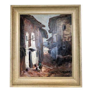 Benedicto Spanish Scene Oil Painting