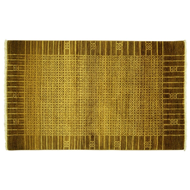 """Oriental Traditional Oushak Rug - 4'1"""" x 5'7"""" - Image 1 of 7"""