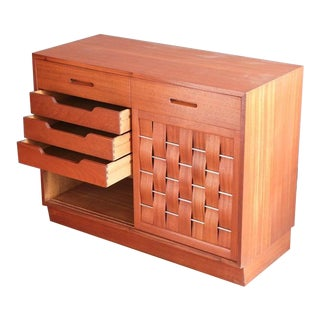 Woven-Front Cabinet by Edward Wormley for Dunbar