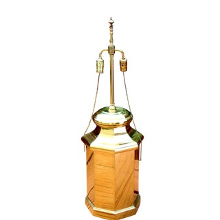 Tall Hollywood Regency Deco Brass Lamp